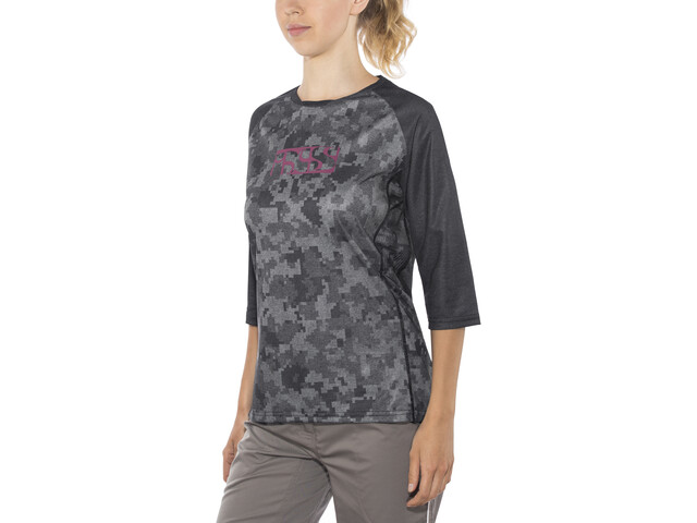 IXS Vibe 8.2 Kortærmet cykeltrøje Damer grå/sort | Trøjer